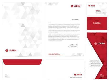 Business stationery example 1