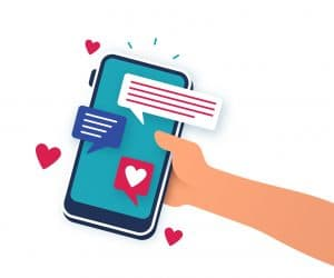 Mobile device dating romance phone app.